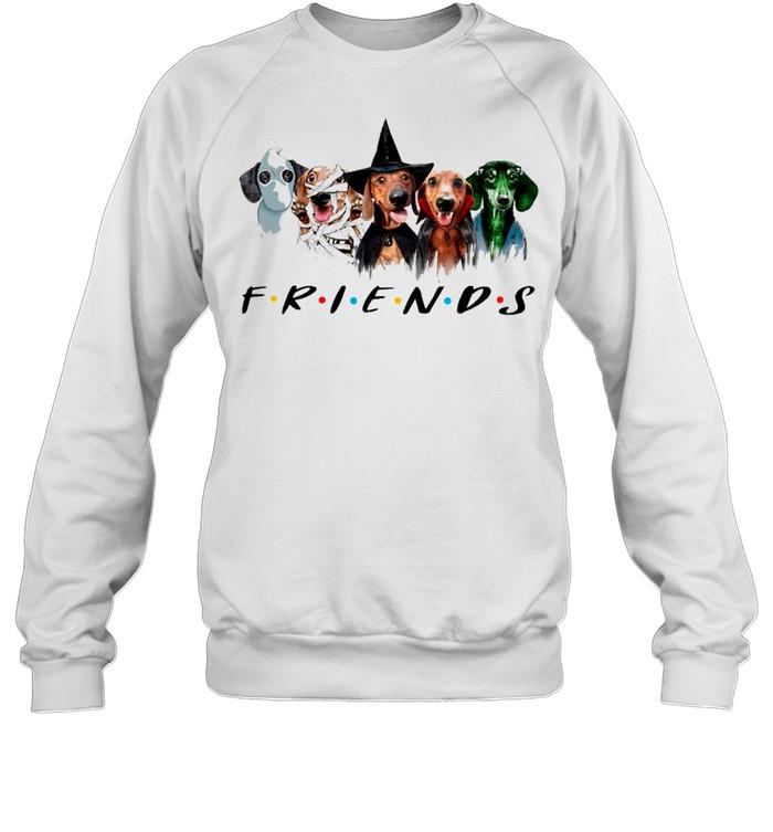 Dachshund Friends Halloween 2021 shirt Unisex Sweatshirt