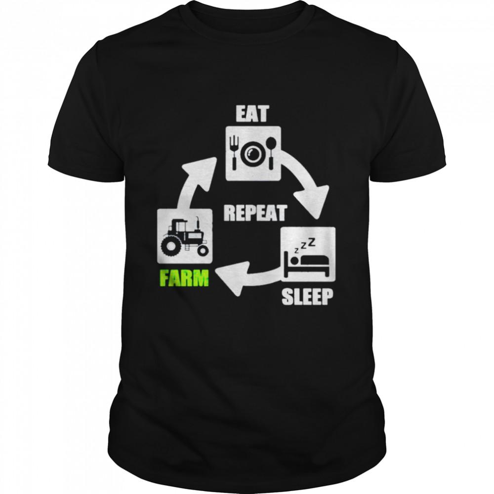Eat sleep farm repeat shirt Classic Men's T-shirt