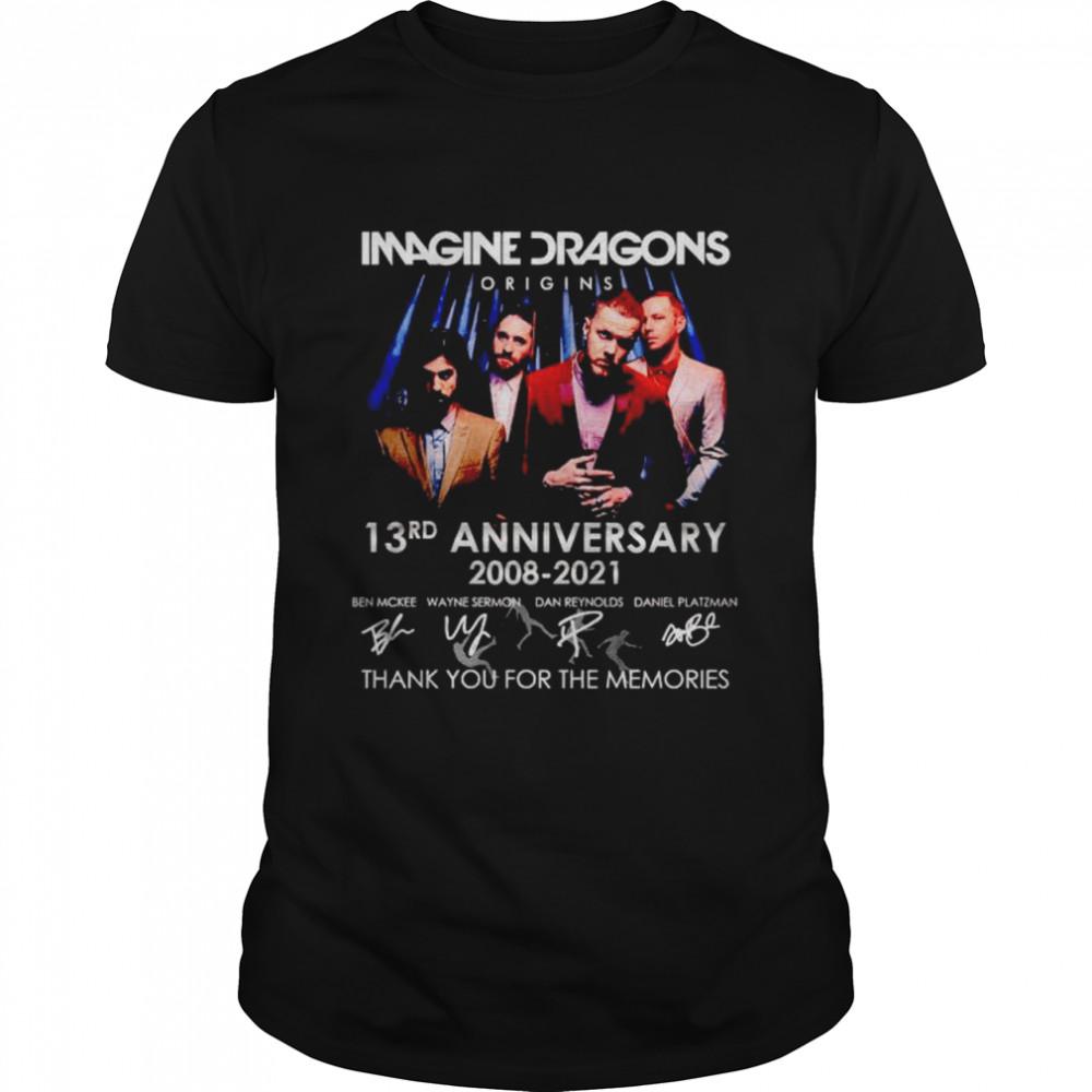 Imagine Dragons origins 13rd Anniversary 2008 2021 thank you for the memories shirt Classic Men's T-shirt