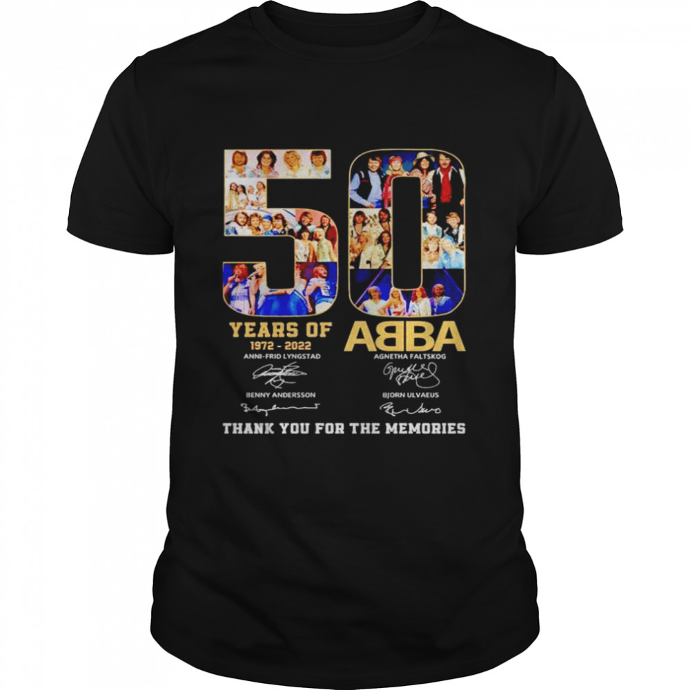 50 years of ABBA 1972 2022 thank you for the memories shirt Classic Men's T-shirt
