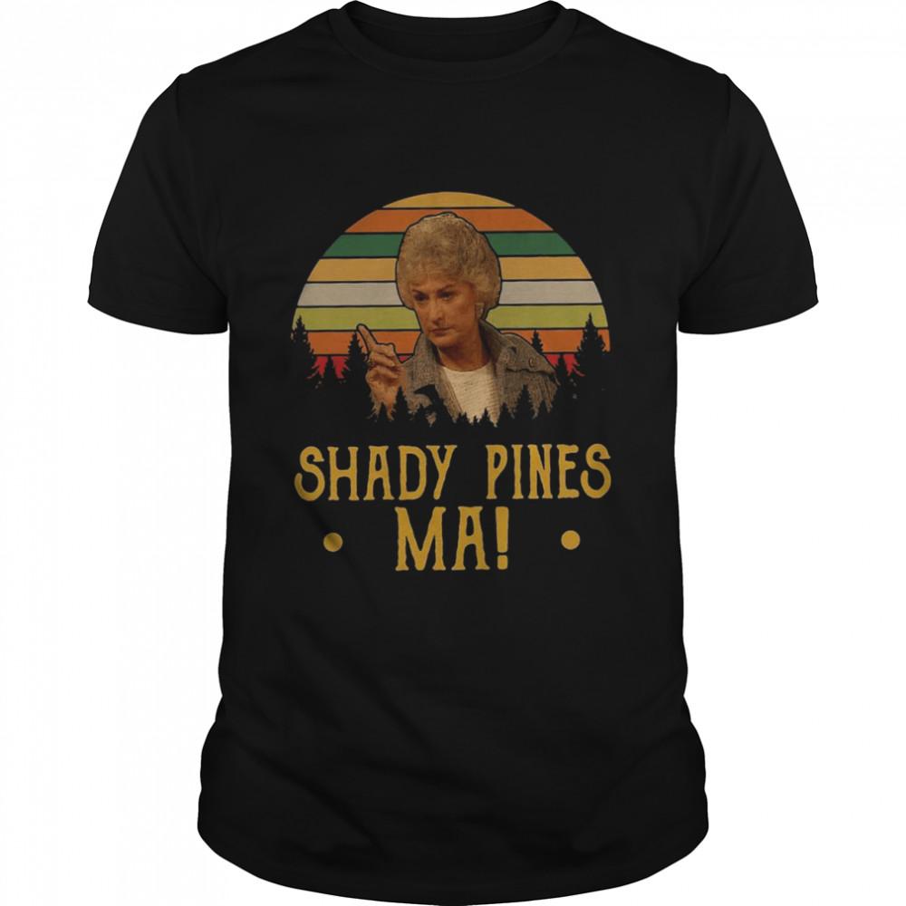Shady Pines Ma 2021 Vintage T-shirt Classic Men's T-shirt