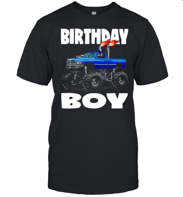 Birthday Boy Fire Monster Truck Party Kids Boys T-shirt Classic Men's T-shirt