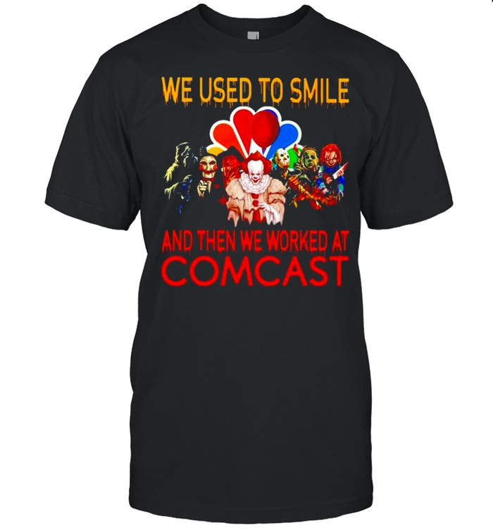 Horror Halloween we used to smile and then we worked at Comcast shirt Classic Men's T-shirt