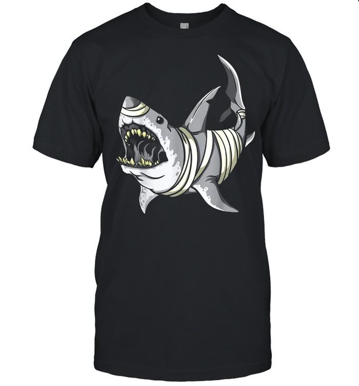 Mummy Shark Halloween Kostüm Shirt Cool Great White Shark shirt