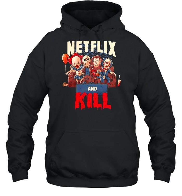 Netflix and kill Halloween shirt Unisex Hoodie