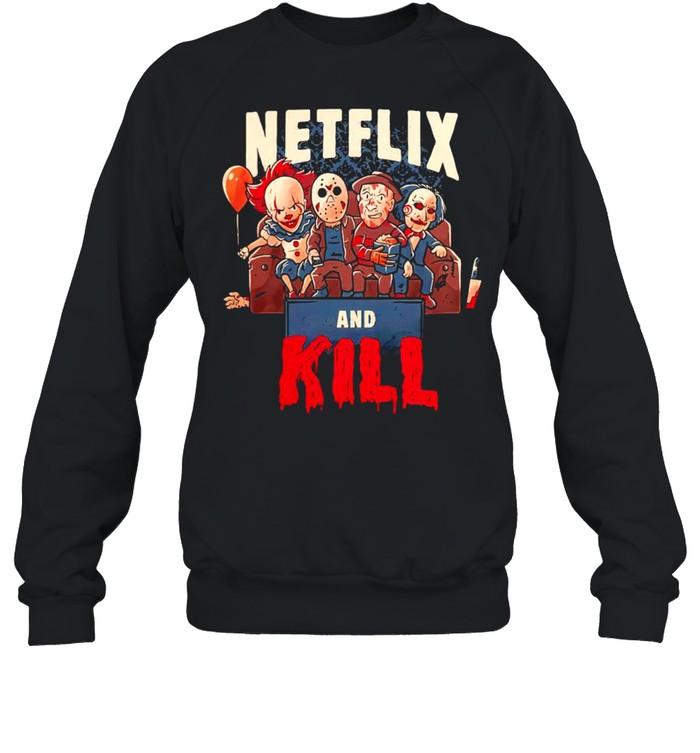 Netflix and kill Halloween shirt Unisex Sweatshirt