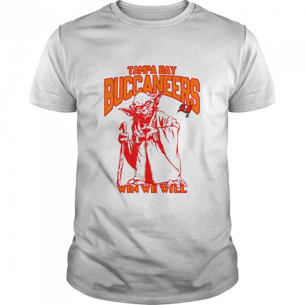 Tampa Bay Buccaneers Star Wars Yoda Win We Will T- shirt Classic Men's T-shirt