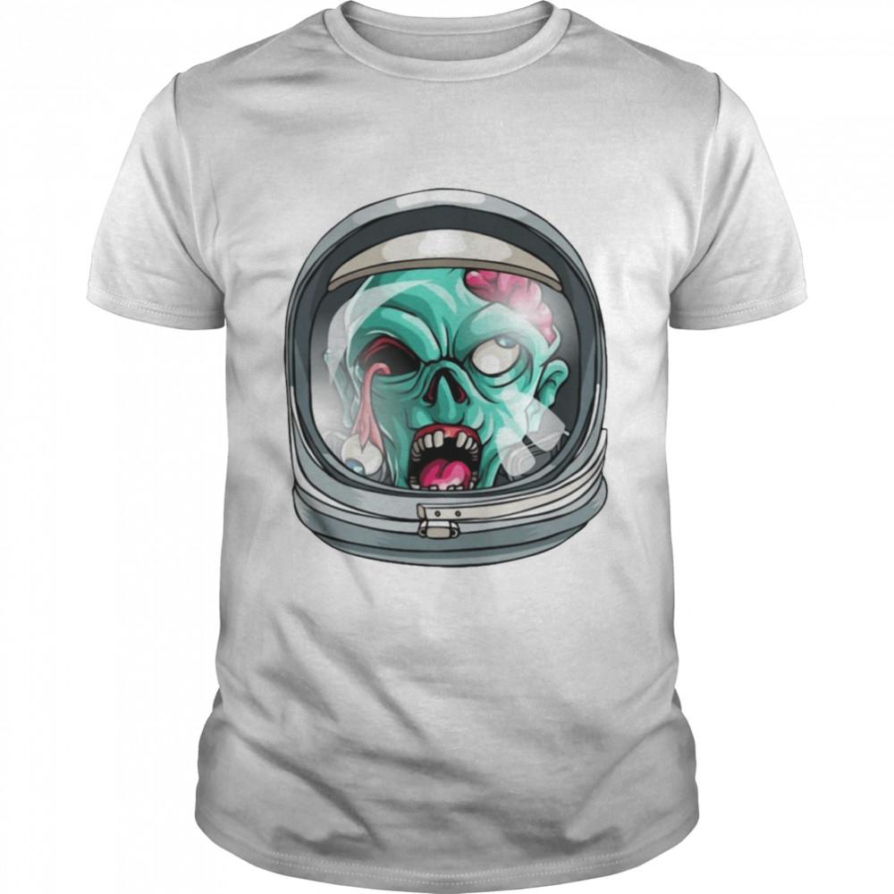Zombie Astronaut Funny Halloween Horror Scary T-shirt Classic Men's T-shirt
