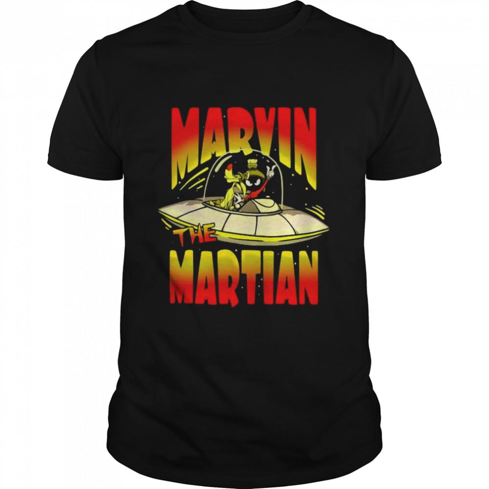 Looney Tunes Marvin The Martian Space Flight T-shirt Classic Men's T-shirt