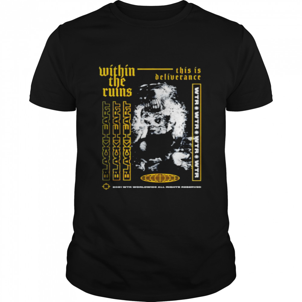 Black heart within the ruins shirt Classic Men's T-shirt
