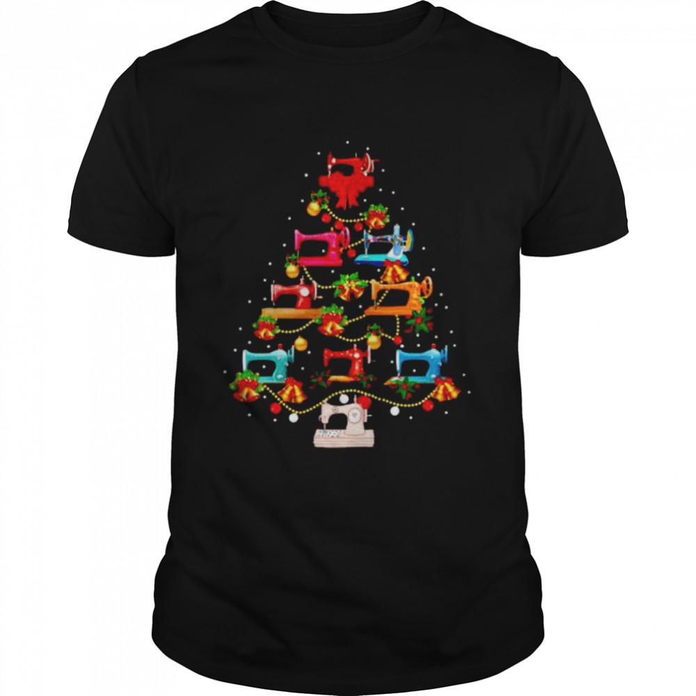Sewing machine make Christmas tree shirt