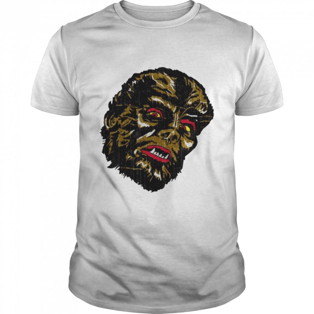 Wolf Man Retro Distressed Active shirt