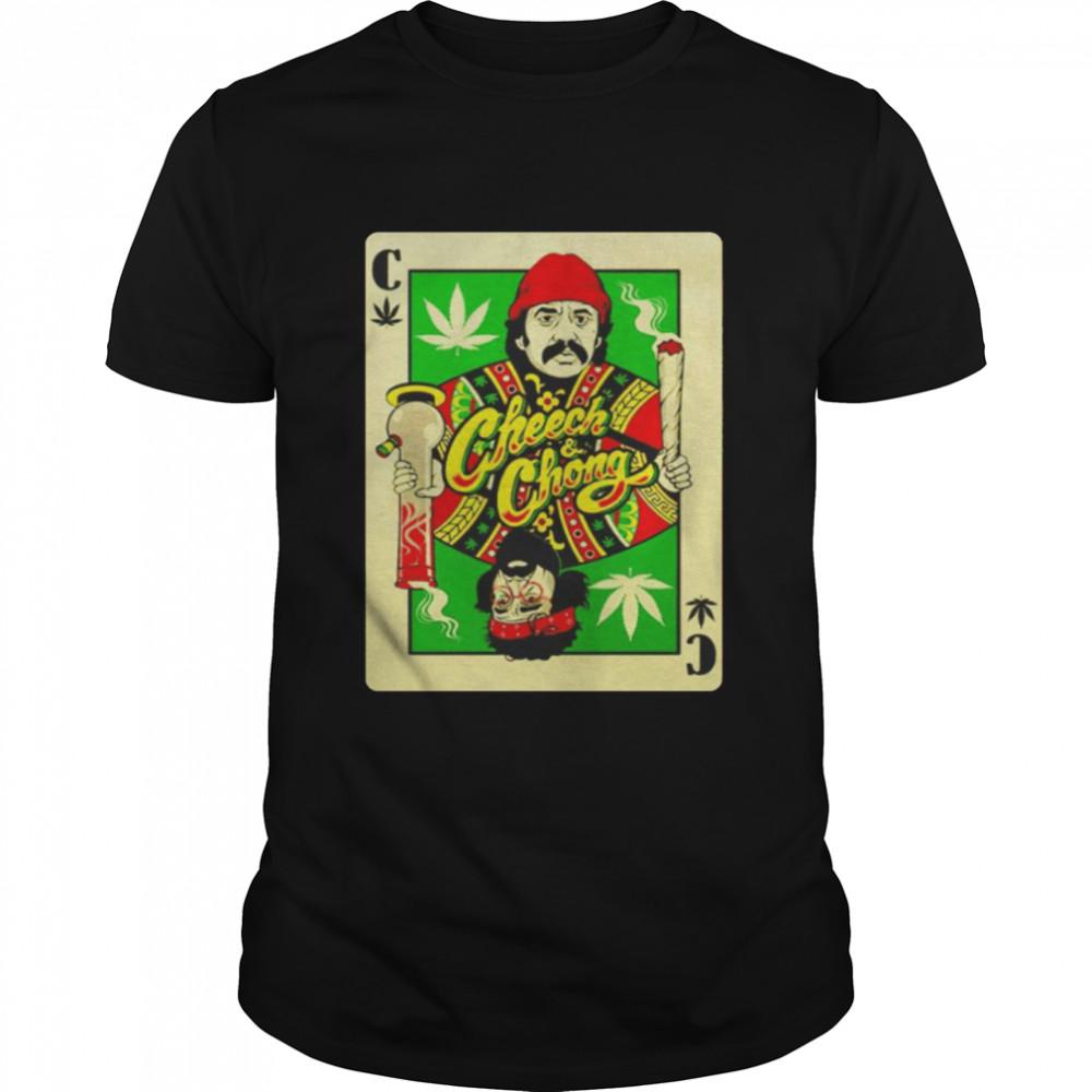 Cheech And Chong playing card nice shirt
