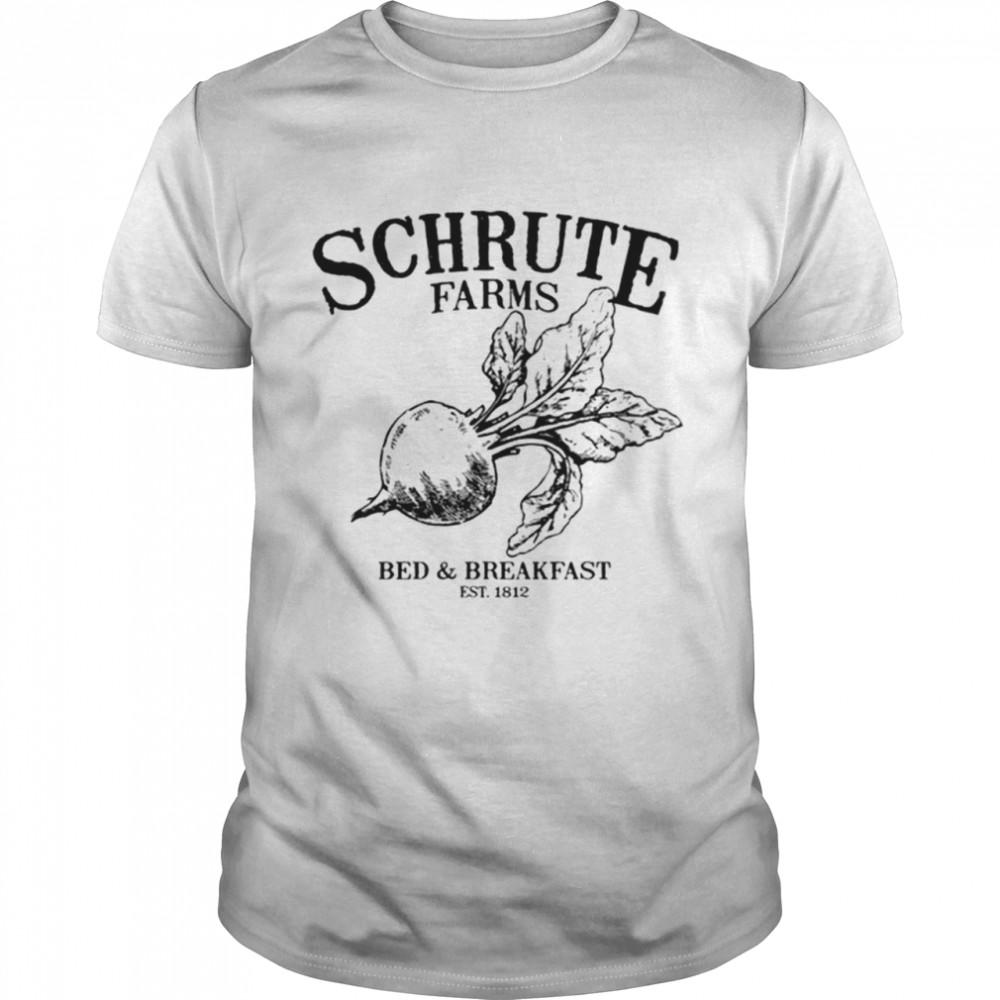 Schrute Farms Bed Breakfast Est 1812  Classic Men's T-shirt