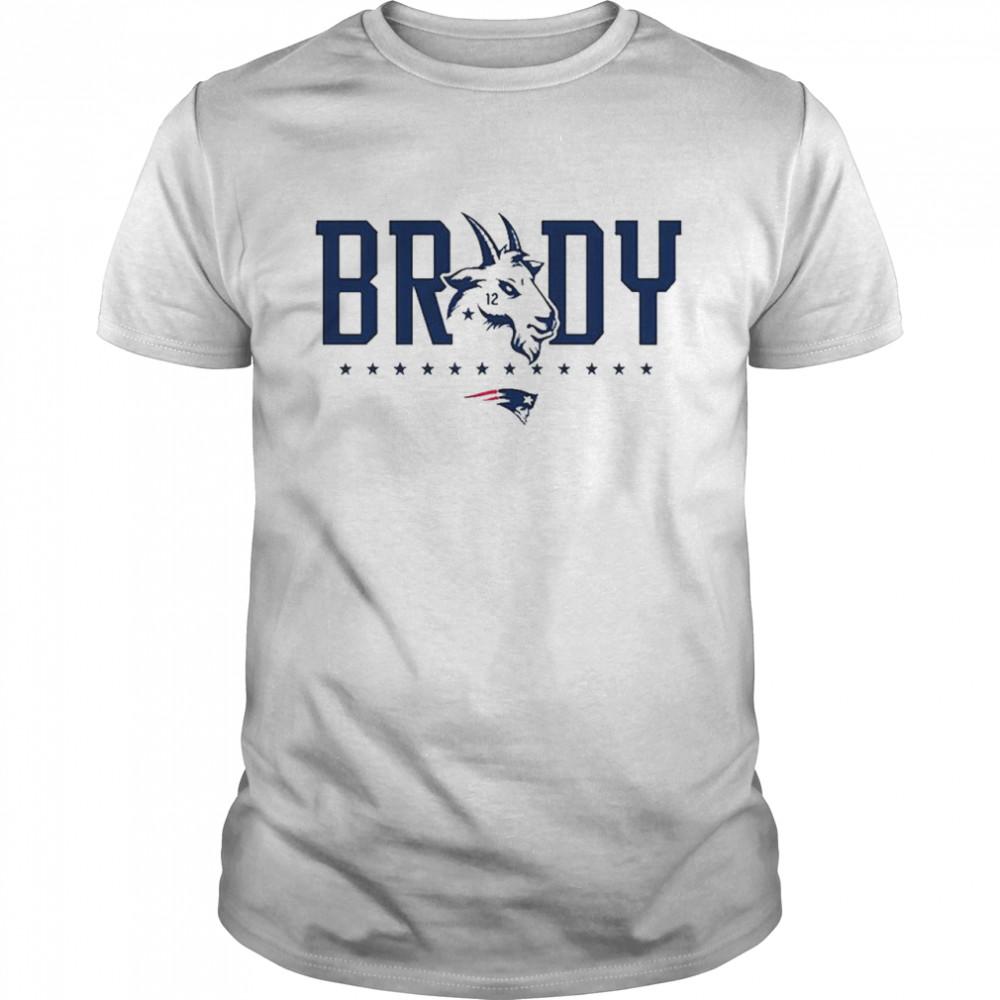 Tom Brady New England Patriots Goat 12 T-shirt Classic Men's T-shirt