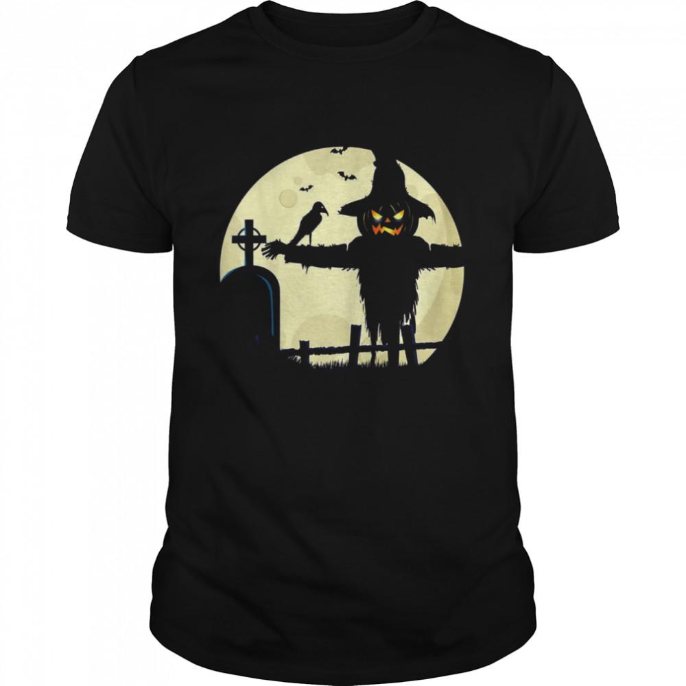 Halloween Scarecrow Pumpkin Spooky Costume Design  Classic Men's T-shirt