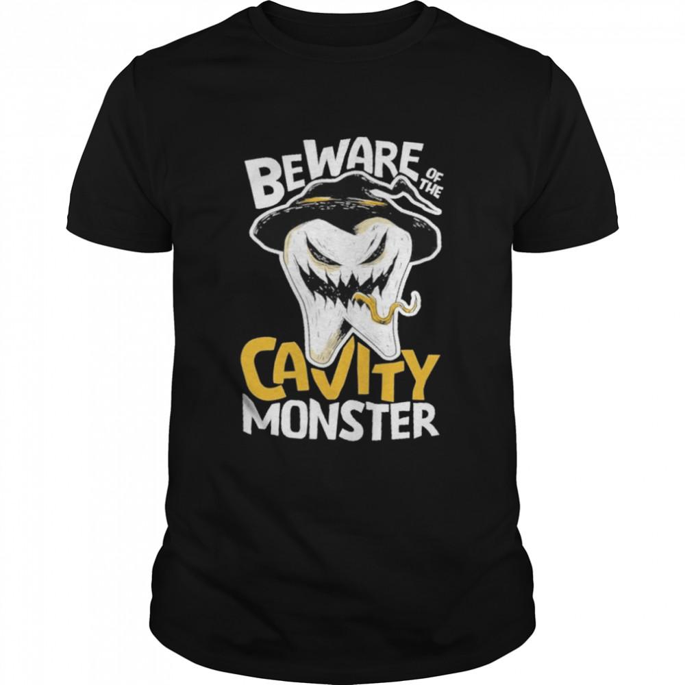 Beware of the cavity monster shirt Classic Men's T-shirt