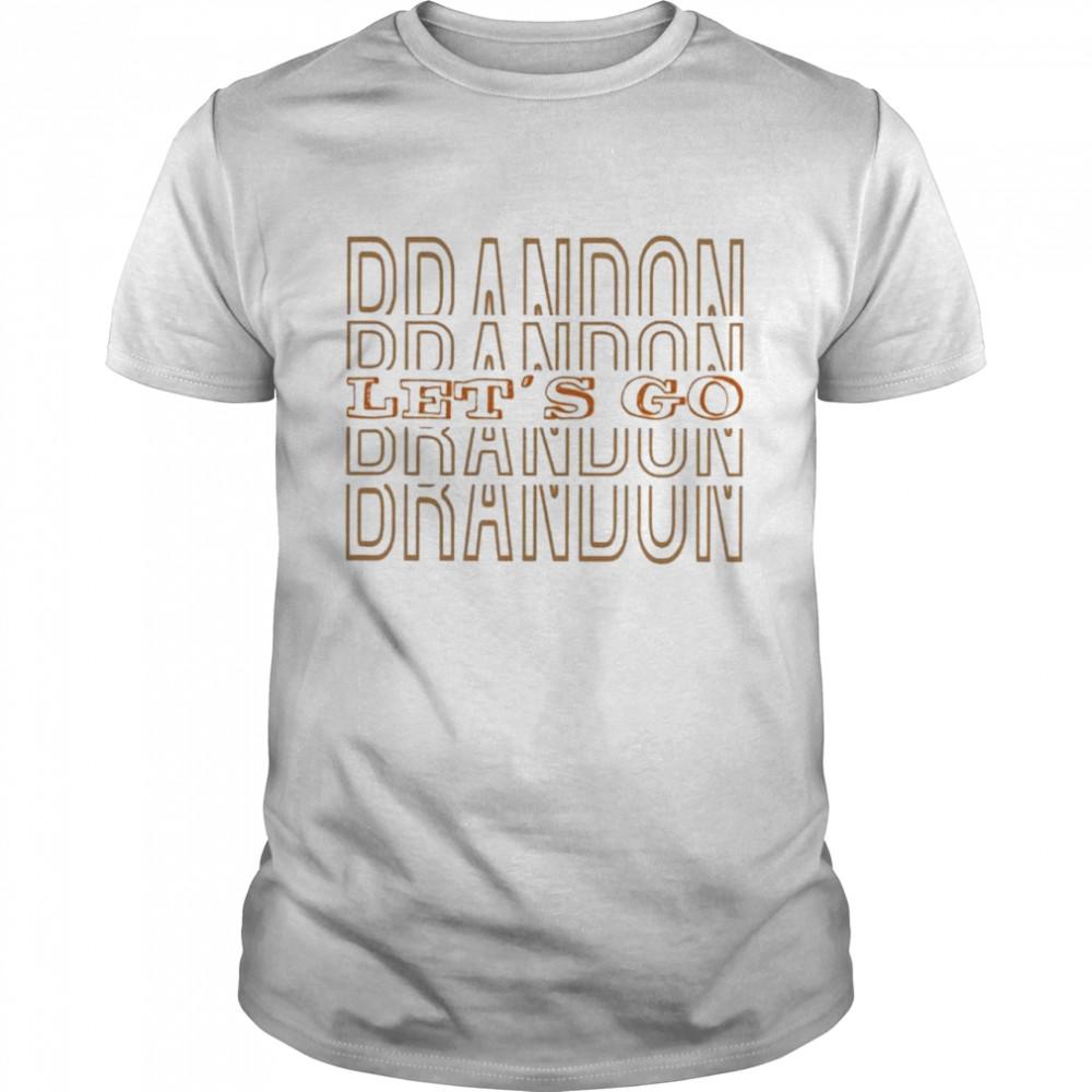 Lets Go Brandon Joe Biden FJB shirt Classic Men's T-shirt