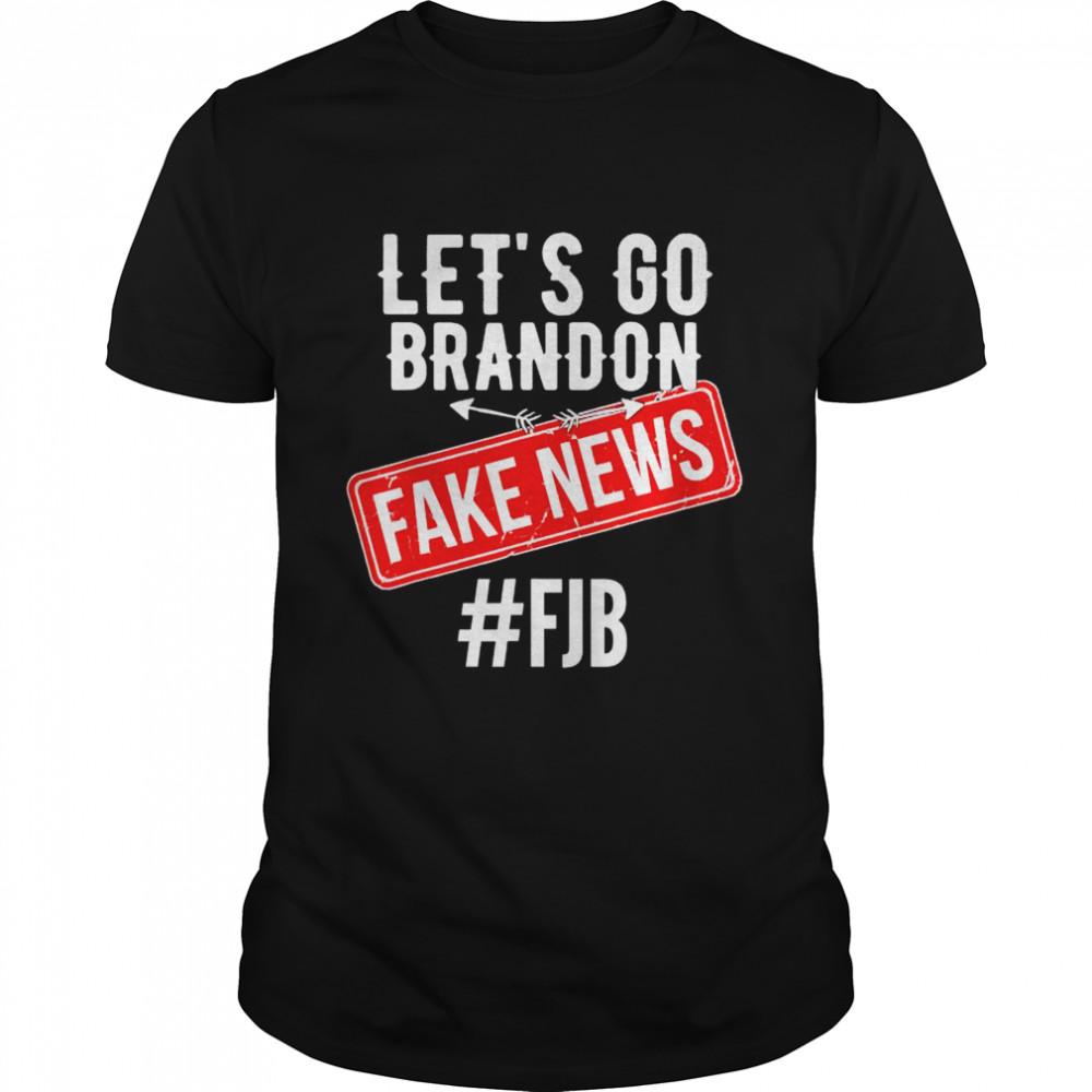 Lets Go Brandon Joe Biden Chant Fake News shirt Classic Men's T-shirt