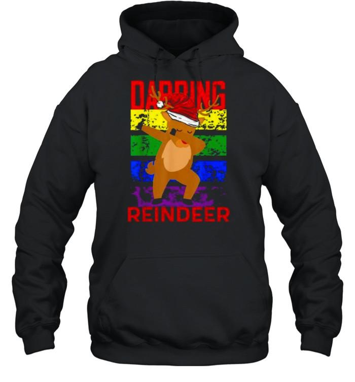 Dabbing Reindeer Merry Christmas 2021  Unisex Hoodie