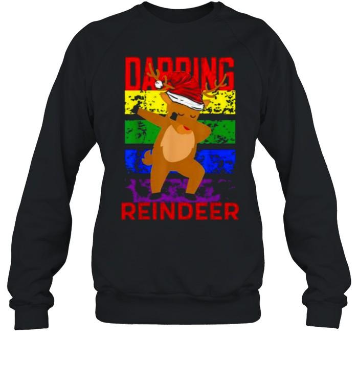 Dabbing Reindeer Merry Christmas 2021  Unisex Sweatshirt