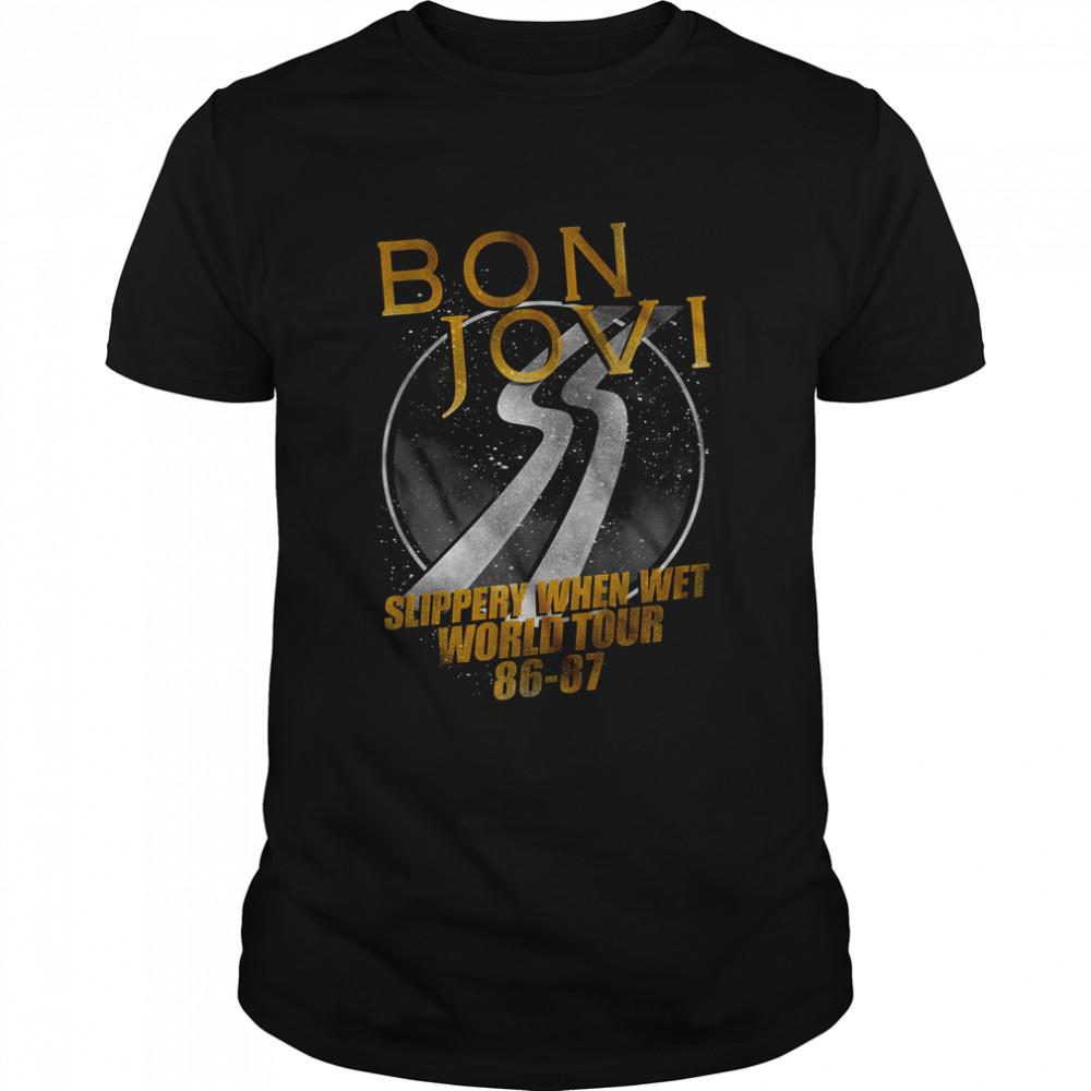 Slippery When Wet World Tour Bon Jovi T- Classic Men's T-shirt