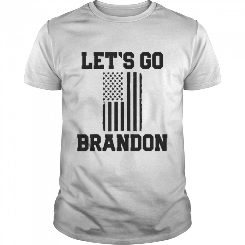 Lets Go Brandon Patriotic Black American Flag shirt Classic Men's T-shirt