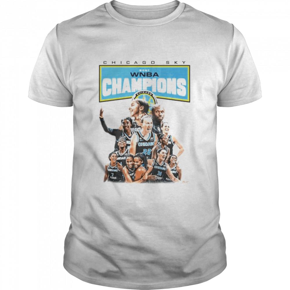 Nice chicago Sky 2021 WNBA champions players shirt Classic Men's T-shirt