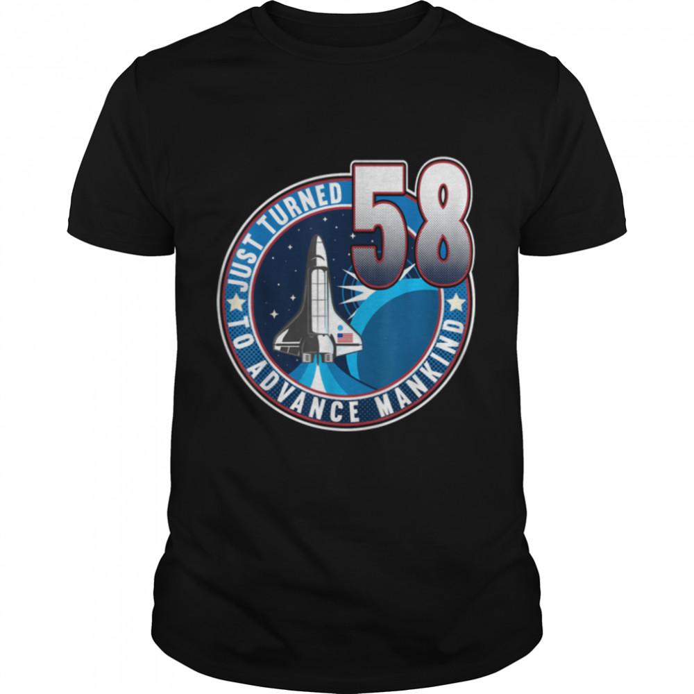 58th Birthday I To Advance Mankind I Adult Astronaut Costume T- B09JZGH49Q Classic Men's T-shirt