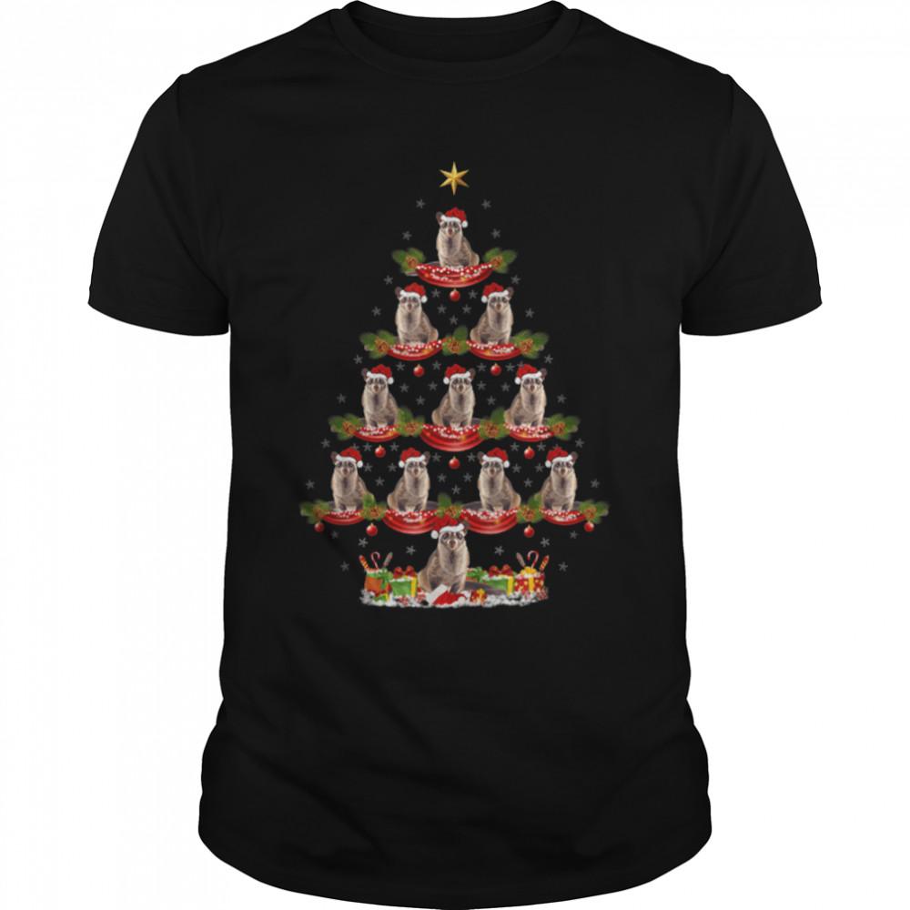 African Civet Xmas Lighting African Civet Christmas Tree T- B09JWRF7WH Classic Men's T-shirt