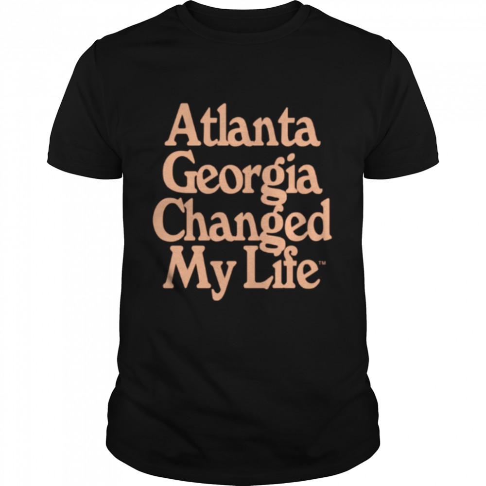 Atlanta Hawks Atlanta Georgia changed my life shirt Classic Men's T-shirt