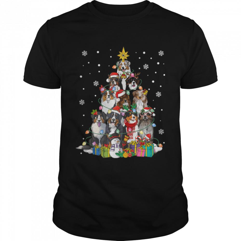 Australian Shepherd Christmas Tree Family Matching Christmas T- B09JZF4DJH Classic Men's T-shirt