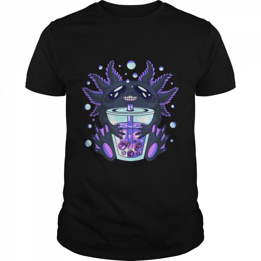 Axolotl Bubble Tea Boba Boba T- B08V8WGKDM Classic Men's T-shirt