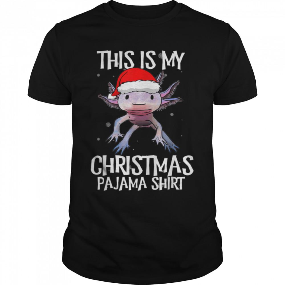 Axolotl Santa Claus Xmas This is my Christmas Pajama T- B09JXTZV74 Classic Men's T-shirt