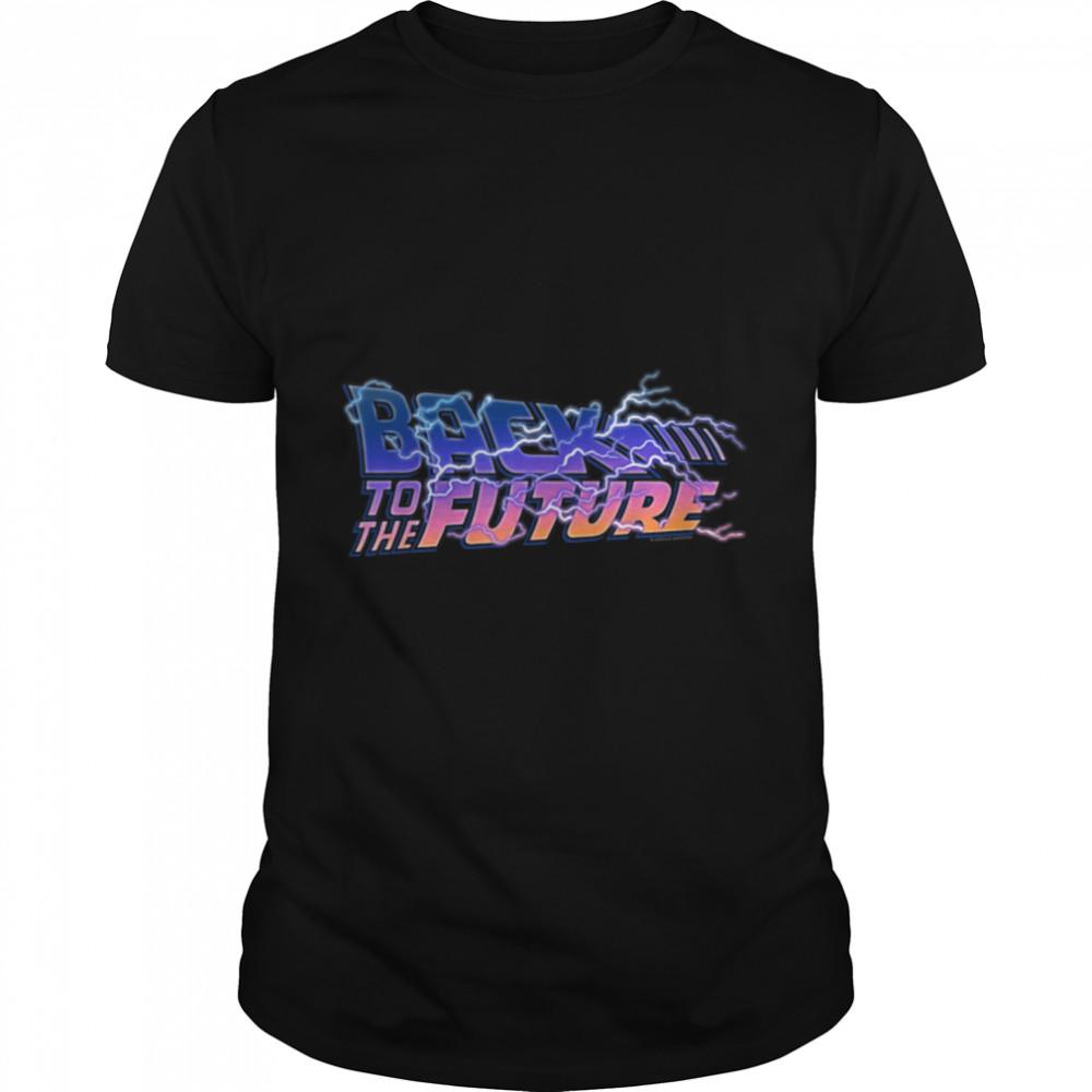 Back To The Future 35th Anniversary Lightning Logo T- B08DJTVRTM Classic Men's T-shirt