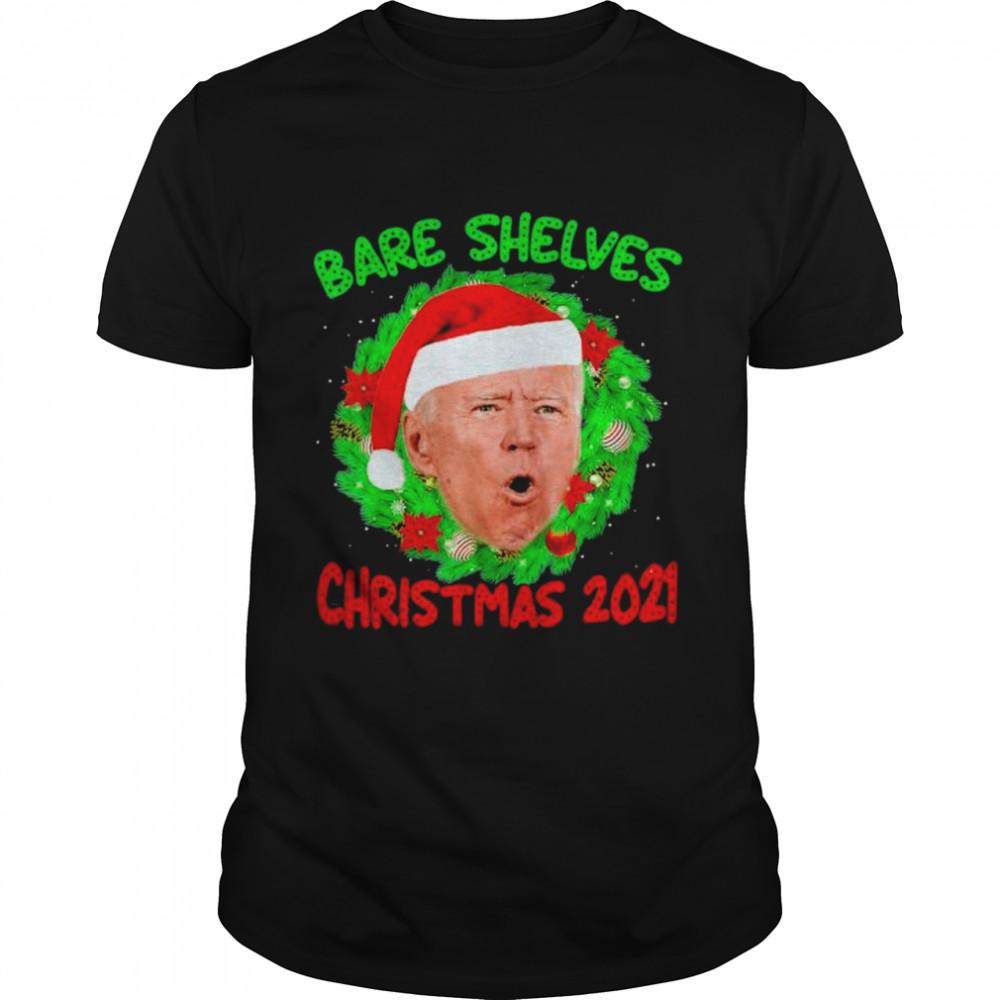 Bare Shelves Biden Christmas Foxtrot 2021  Classic Men's T-shirt