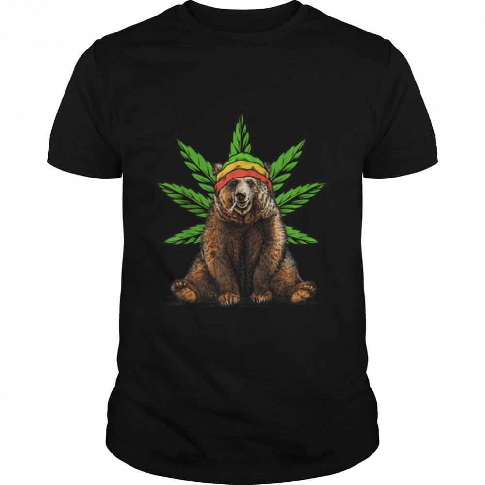 Bear Marijuana Cannabis THC Stoner T- B09JZBDR5N Classic Men's T-shirt