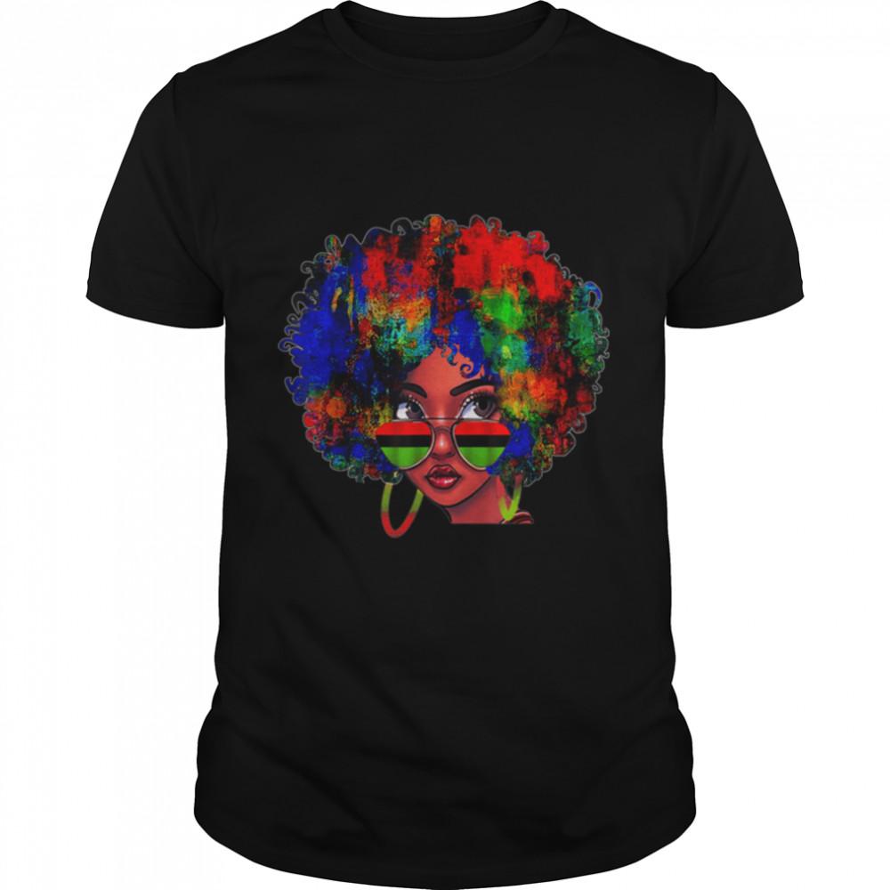 Black Queen Afro Beauty Melanin Black History Pride Art T- B0973SWVVM Classic Men's T-shirt