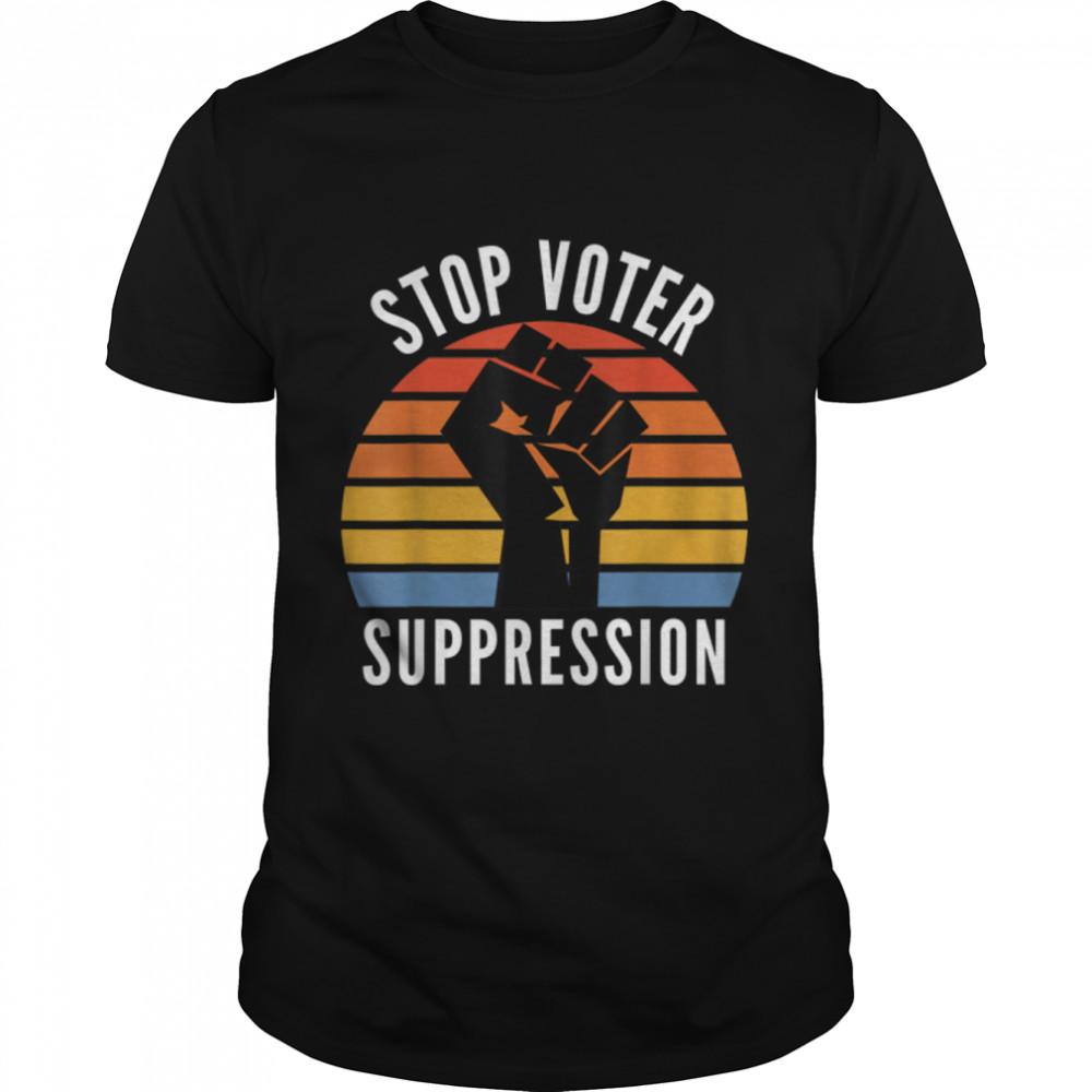 Black Voters Matter Georgia Voting Stop Voter Suppression T- B091TYGC6D Classic Men's T-shirt