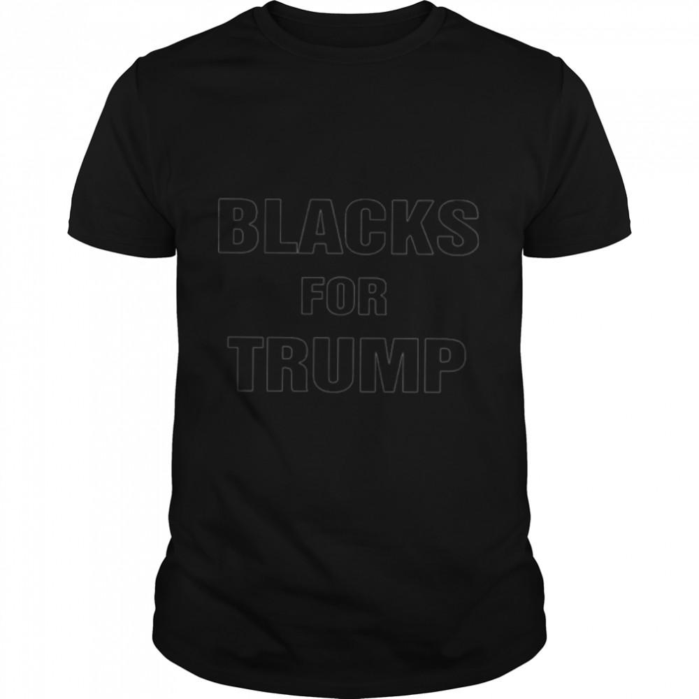 Blacks for Trump shirt Classic Men's T-shirt