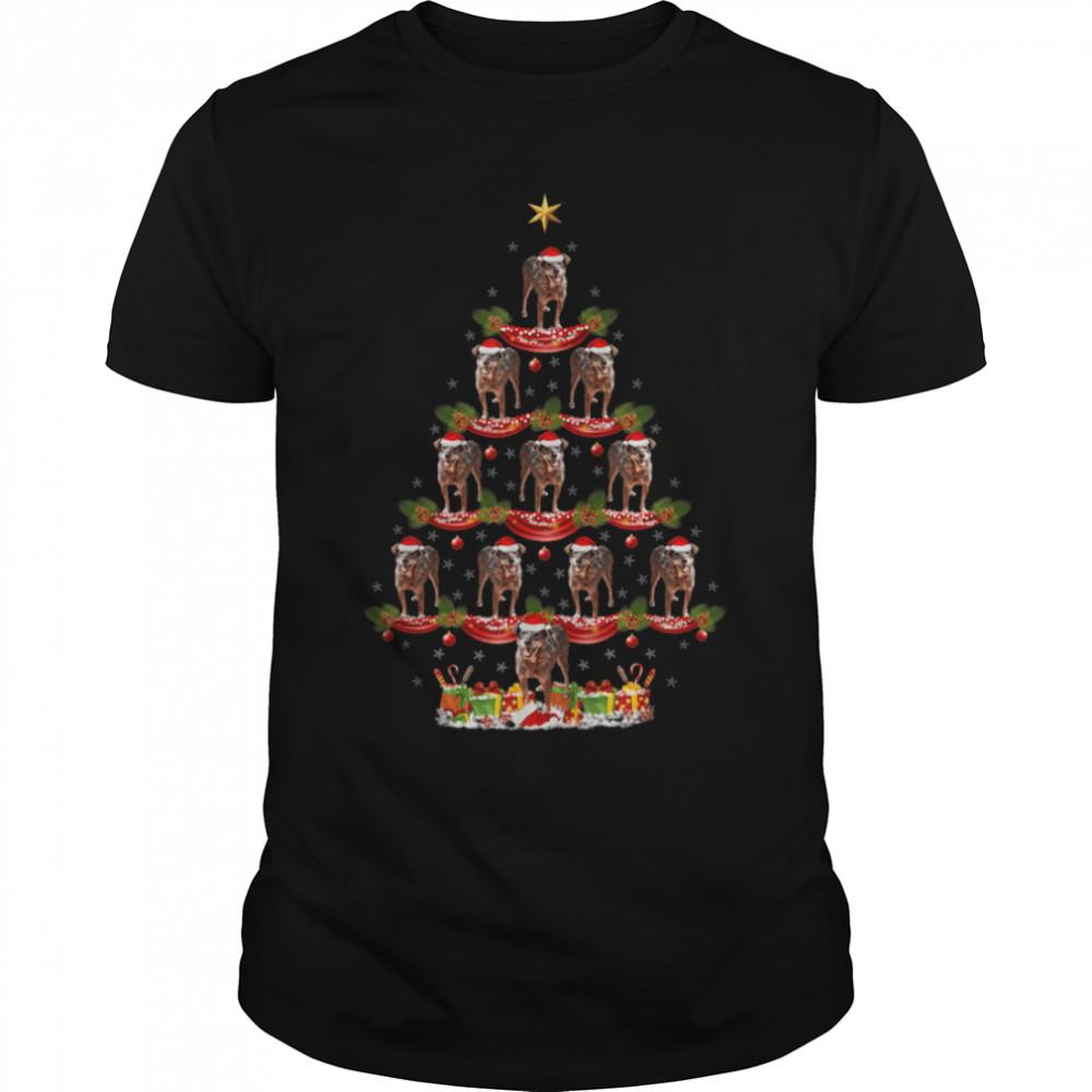 Blue Heeler Dog Xmas Lighting Blue Heeler Christmas Tree T- B09JXTBZL2 Classic Men's T-shirt