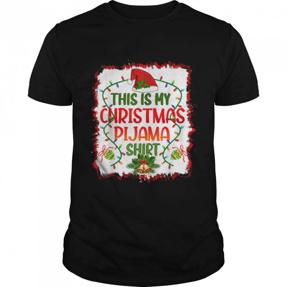 Buffalo Plaid Bleached Printed This Is My Christmas Pajama T- B09JSTJTVL Classic Men's T-shirt