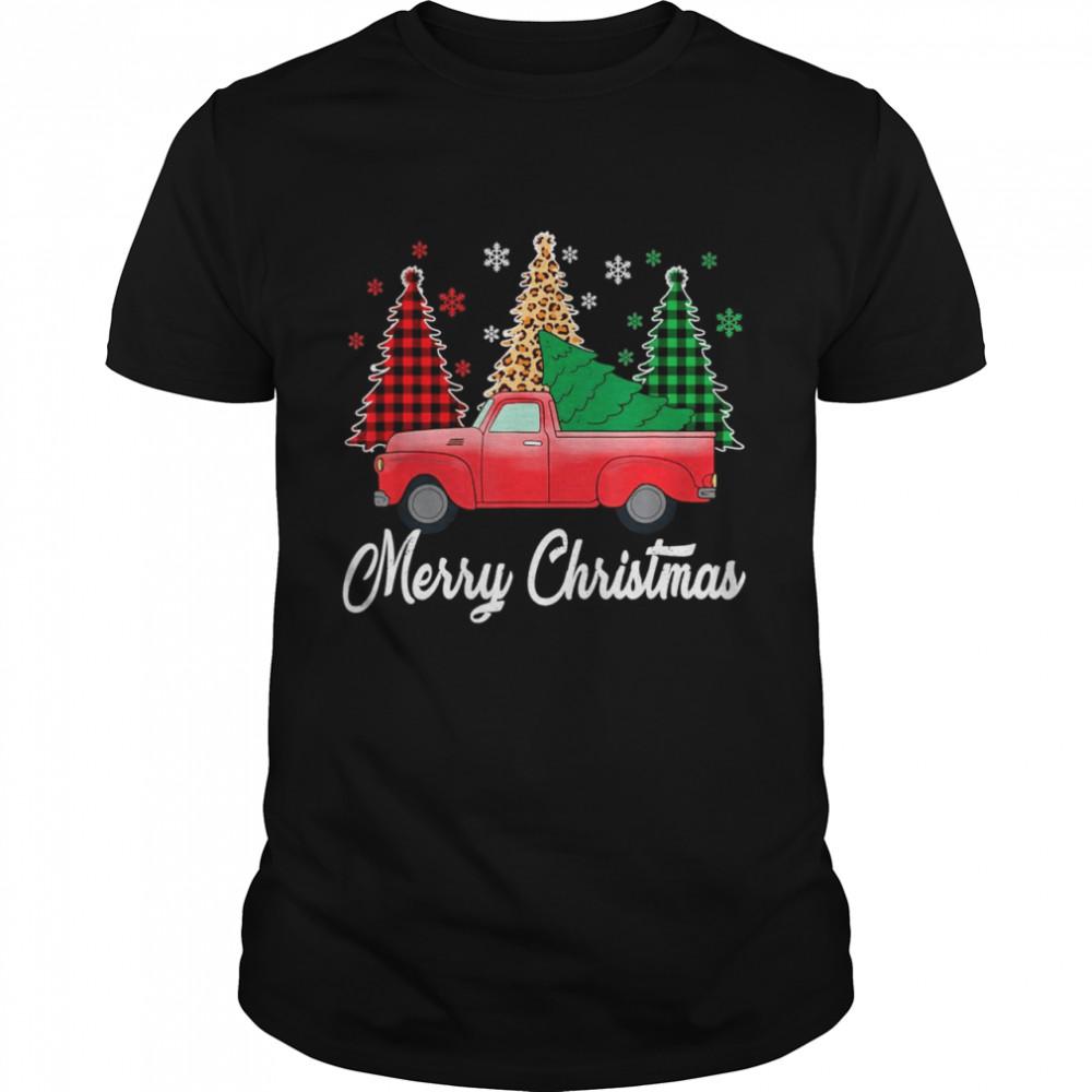 Buffalo Red Plaid Christian Merry Christmas Of The Trip Car  Classic Men's T-shirt