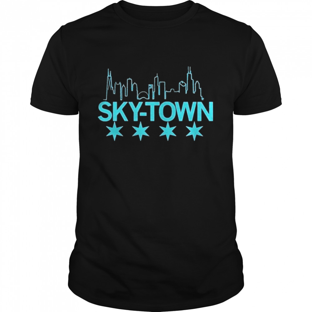 Chicago From Sky – Town  Classic Men's T-shirt