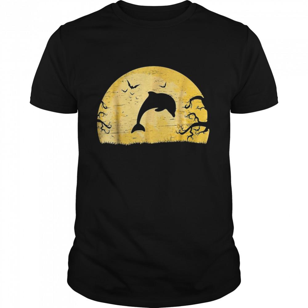 Dolphin Sea Creature Bats Halloween Spooky T-shirt Classic Men's T-shirt