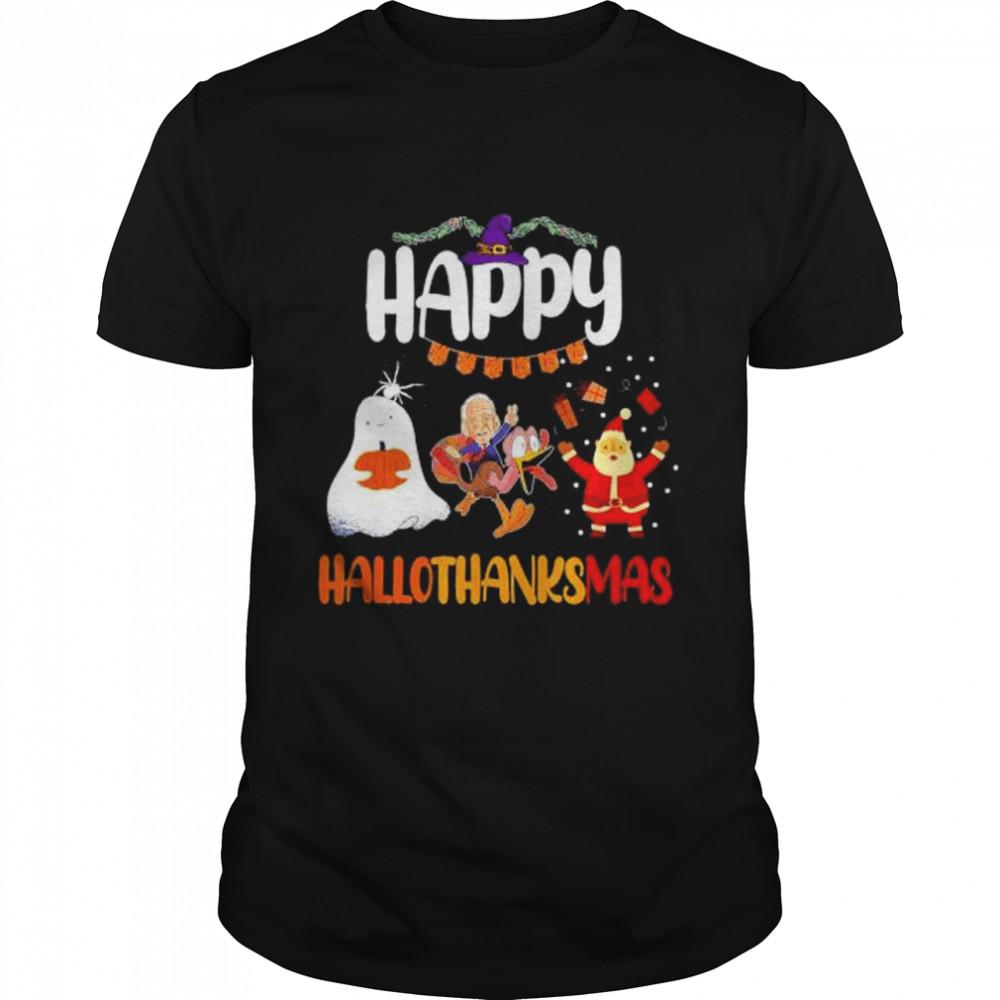 Happy Hallothanksmass Thanksgiving Christmas  Classic Men's T-shirt