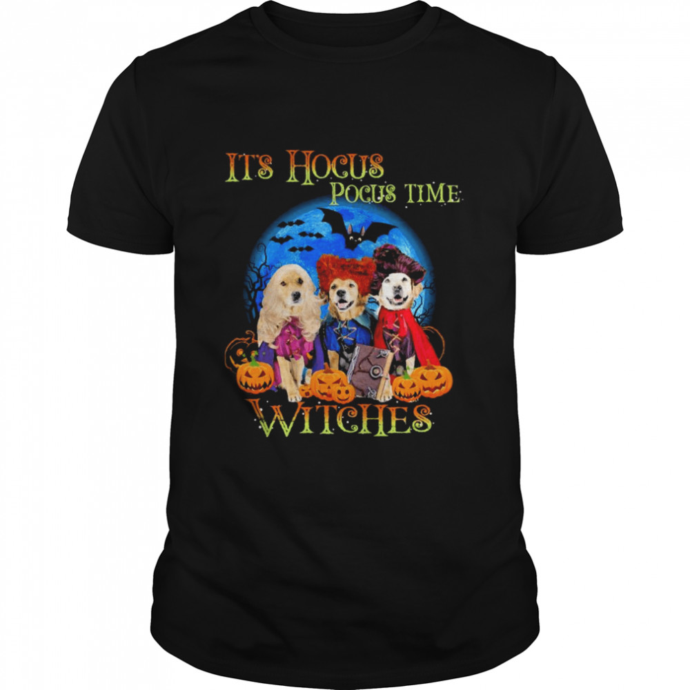 Husky It's Hocus Pocus Time Witches Halloween  Classic Men's T-shirt