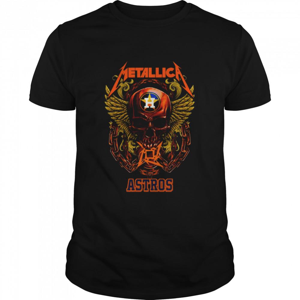 Skull Metallica Houston Astros 2021 shirt Classic Men's T-shirt