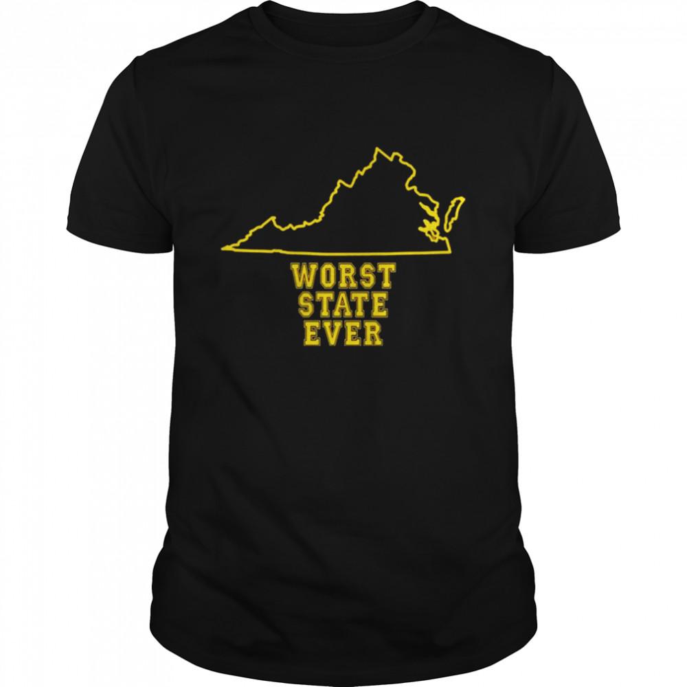 Virginia Worst State Ever shirt Classic Men's T-shirt