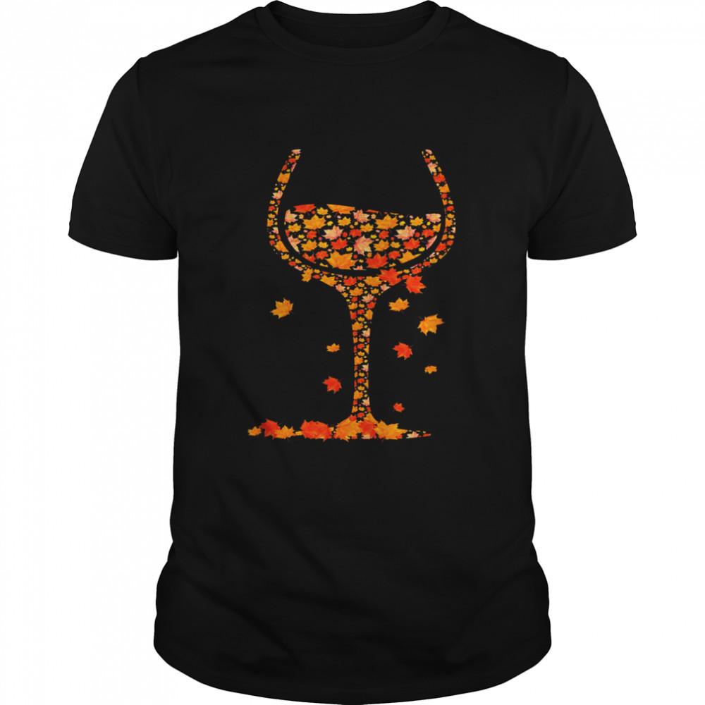 Wine Fall Happy Halloween  Classic Men's T-shirt